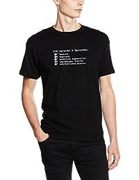 Shirtzshop T-Shirt Ich spreche fünf Sprachen-Deutsch-Englisch-genervtes Augenrollen