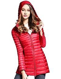 Invierno Capucha Mujer De Cálido Fit Abrigo Slim Medio Parka Zengbang Largo Con Chaqueta AfnXqp0p