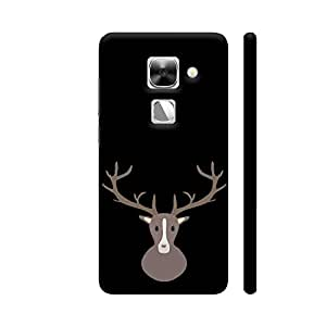 Colorpur Stag Head Printed Back Case Cover for LeEco Le Max 2