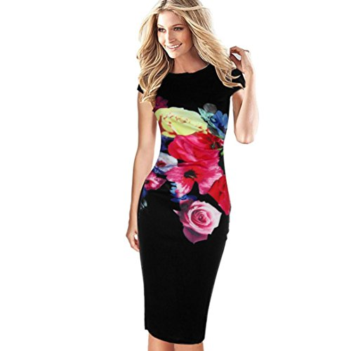 4e7daa2af3b Damen Kleid Yesmile Sexy Sommer Frauen Ärmelloses Bodycon Damen Abend Party  Kleid Sexy Club