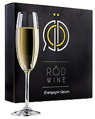 Idea Regalo - Set di Bicchieri da Champagne - Eleganti Flute Glass Champagne da 220 ml, Calici in Cristallo al Titanio senza Piombo - Perfetto per Matrimoni e Occasioni Speciali - L'idea Perfetta per un Regalo