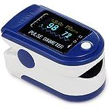 DAXGD Pulsossimetro da Dito, Saturimetro da Dito Portatile Professionale con Display LCD per Frequenza del Polso(PR) e La sat
