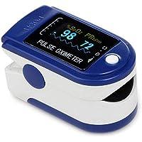 Pulsiossimetro da Dito, Spo2 dito ossimetro con clip, tosensore Digitale di Ossigeno nel Sangue e pulsazioni, per Uso…