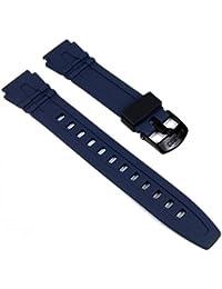 Casio 10162540 - Correa de resina para reloj de hombres, color azul oscuro (18)
