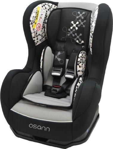 Osann Kinderautositz Cosmo SP, (0-18 kg), ECE Gruppe 0/1, von Geburt bis ca. 4 Jahre, reboard bis 10 kg nutzbar, Corail Black