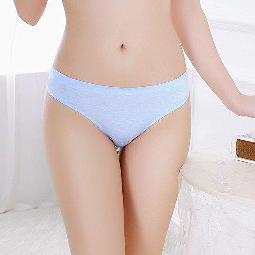 Women's Thong Underwear Stretchy Panties Damen Baumwoll-String-Unterwäsche Elastische Hose Hohe Taille Damen Tanga Bequem Panties Atmungsaktiv Illumination Bikini-Slip T-String Model Thong Panty - 2