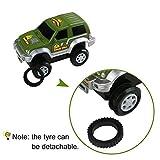 Car Track mit 2 Dinosaurier und Auto Rennbahn Spiel Set Montage Spielzeug für Kinder ab 3 4 5 Jahre - 6