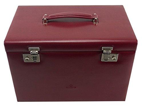 Windrose Merino Schmuckkoffer mit integrierter Schmucktasche 37 cm, rot