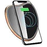 WBGSNHHH Original Qi Wireless Ladegerät Für iPhone X XS Max Schlank Schnell 10 Watt USB Wireless Charging Für Samsung S8 S7,Black