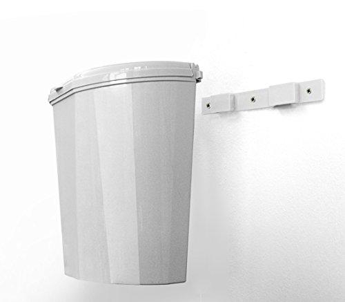 Brunner Abfallbehälter Papierkorb Mülleimer Eimer Pillar XL Weiß