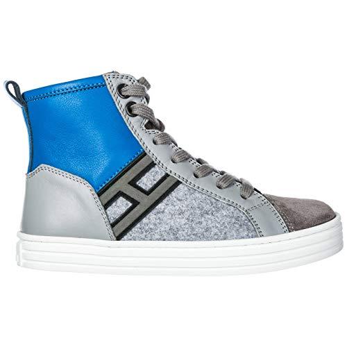 Hogan Sneakers Alte R141 Bambino Grigio 33 EU