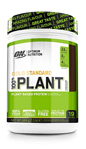 Optimum Nutrition Gold Standard 100 Prozent Plant ON Vegan Protein Pulver (Eiweisspulver aus 100 Prozent pflanzlichen Quellen) Chocolate, 19 Portionen, 640g