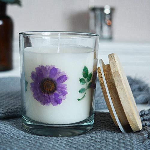 LKOBN Bougeoir Fleurs séchées parfumées Grande...
