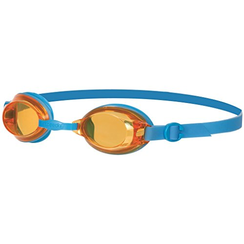Mainline Uni Jet Junior Schwimmbrille, Schwimmbrille Jet Junior , Gr. 6-14 Jahre (Herstellergröße: 6-14 ans), Japan Blue/Sunset - Goggles Speedo Jr