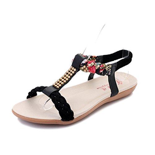 Sommer,flach,damen sandalen/die einfachheit der hundert,damenschuhe-A Fußlänge=23.8CM(9.4Inch) (Ted Baker-flache Sandalen)