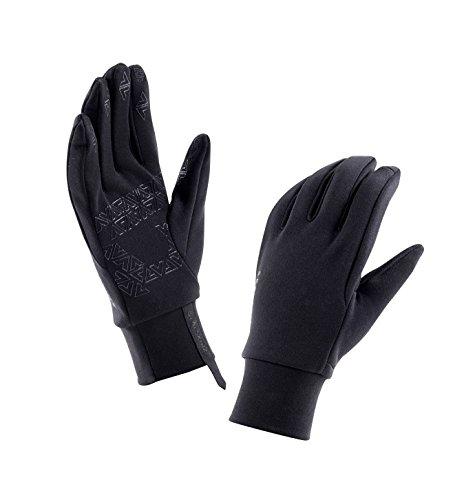 Handschuhe Damen SealSkinz Fleece Nano, Schwarz, L