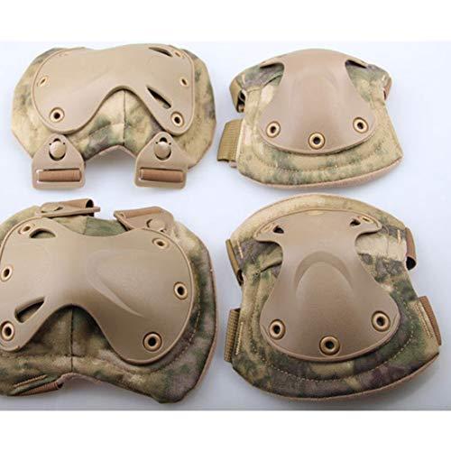JINHONGH Kniepolster Ellenbogenschützer Set Outdoor CS Knieschützer Ellbogenschützer Set Reitausrüstung Set Taktische Armee Fan Ausrüstung (Farbe : Universal Camouflage)