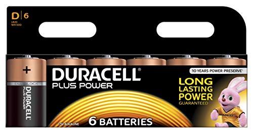 Duracell Plus Power Piles Alcalines type D Pack de 6