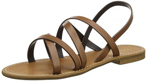Cafènoir kge137 sandali con chiusura sul retro donna, marrone (cuoio) 39 eu