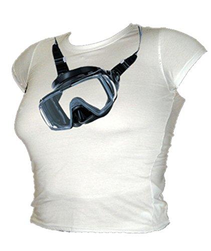 Blue Ray T-Shirts Damen T-Shirt weiß weiß Weiß