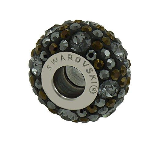Echte Charm Bead aus Swarovski - Jet Hematite - Fits Pandora Armbänder - ideales Geschenk für Frauen und Mädchen - wird In Geschenkbox geliefert