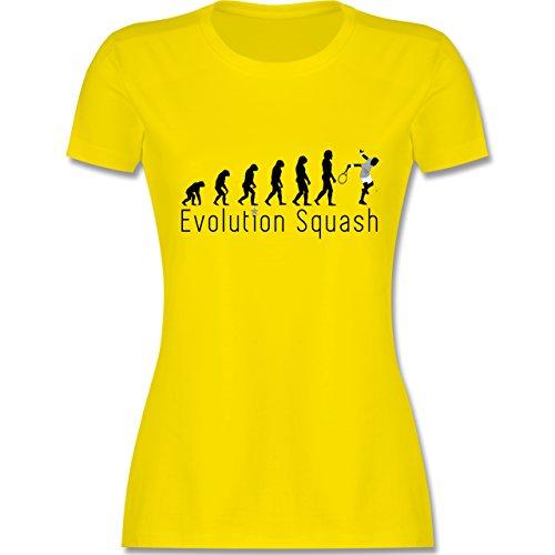 Evolution - Squash Evolution - tailliertes Premium T-Shirt mit Rundhalsausschnitt für Damen Lemon Gelb