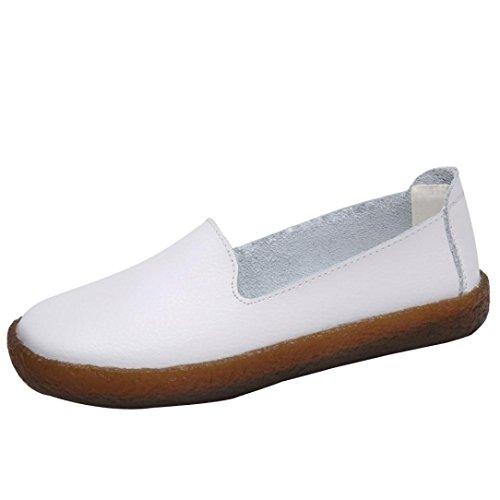 Chaussures Plates en Cuir Souple Femme,Overdose Soldes Automne Hiver Fille  Ballerines Causal Danse Slip d738dece9b18