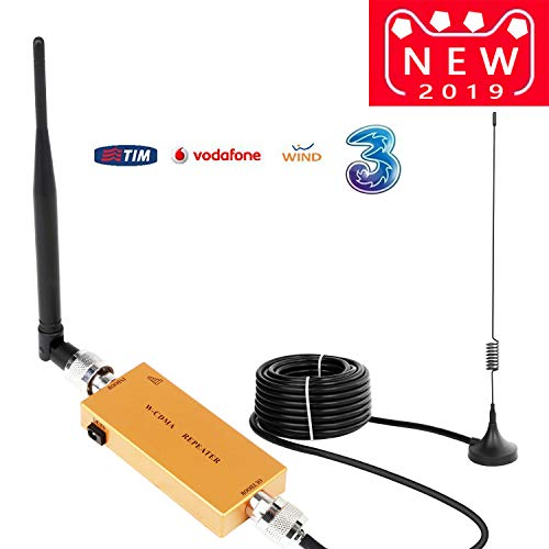 Yuanj Handy Signalverstärker Verstärker 3G 2100 MHz WCDMA Verstärker Telefon für Ladegeräte 2G 3G Repeater GSM Verstärker Sprachanruf und Daten für Multi Mobile Netzwerkanbieter (Gold) (Gold) (Handy-verstärker 3g)