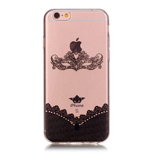 iPhone 6S Coque, Aeeque Butterfly Fantasy Violet Dessin Silicone Doux TPU Anti-rayures Protection Complète du Corps Case Cover Housse Etui pour iPhone 6 6S 4.7 pouce Masque de Dentelle