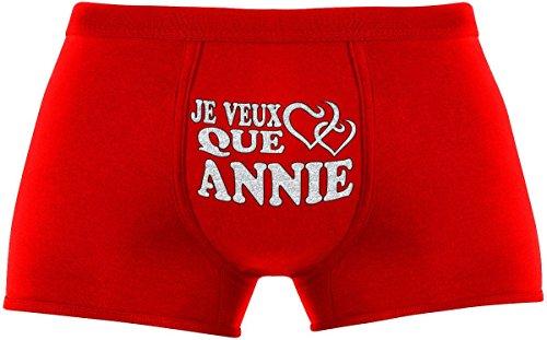 Ideen Annie Kostüm (Les boxers pour hommes | Je veux que Annie | Cadeau anniversaire unique et drôle. Article de nouveauté. Idée)