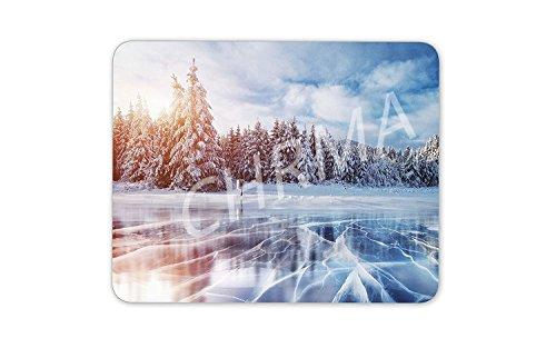 CHRMA Gaming Mauspad Mousepad 9.25 x 7.75 Inches Verbessert Geschwindigkeit und Präzision Rutschfeste Unterseite - Ski Snowboard Eis photo 375