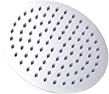 Giow Soffione Doccia Tondo e Quadrato Set di scaldabagni Multi-Dimensioni Ugello per la casa del Bagno (Colore: 20 cm, Dimensioni: Quadrato)