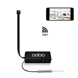 camara camuflada inalambrica: AOBO Camara Espia Oculta Boton HD Mini WiFi Cámara Portátil Inalámbrico Detecció...