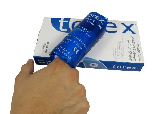 Torex Professional Hot and Cold Therapy Roll on Finger Sleeves Universal size.