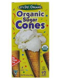 Let's Do...Organic: Organic Sugar Cones (1 x 4.6oz)