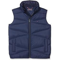 Tommy Hilfiger Packable Light Down Vest, Chaqueta para Niños, Azul (Black Iris 002), 128 (Talla del Fabricante: 8)
