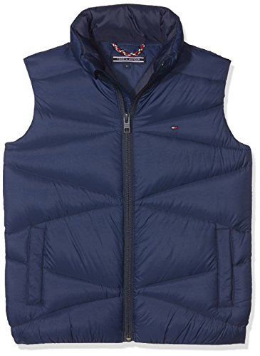 Tommy Hilfiger Jungen Packable Light Vest Jacke, Blau (Black Iris 002), 140 (Herstellergröße: 10)