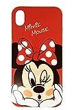 Minnie Coque pour Iphone XR, Silicone TPU de Haute qualité, Couvertures pour Les Disney admirateurs, Unique Rouge Coque pour Votre Téléphones