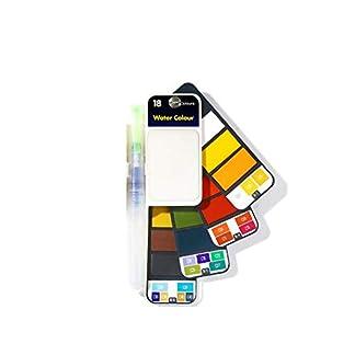 Conjunto esencial de pintura de acuarela – Ligero y portátil – Perfecto para aficionados y artistas profesionales en ciernes – Incluye pincel