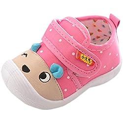 Zolimx Bebés Niños Niñas Zapatos Antideslizantes de Dibujos Animados Suela Blandita Sneakers Para Zapatos Bebe Verano (6-12 Meses, Rosa)