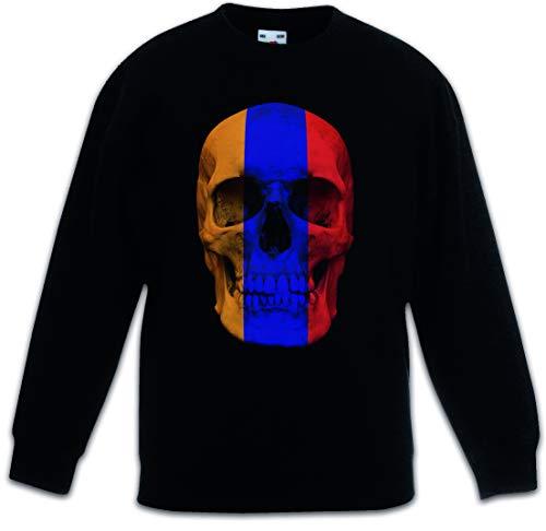 Urban Backwoods Classic Armenia Skull Flag Kinder Jungen Mädchen Pullover - Totenkopf Banner Fahne Armenien