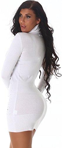 Felpa con cappuccio da donna Jela London in Bolero-effetto con colletto roll & foreverde (34 36 38 taglia unica) Bianco