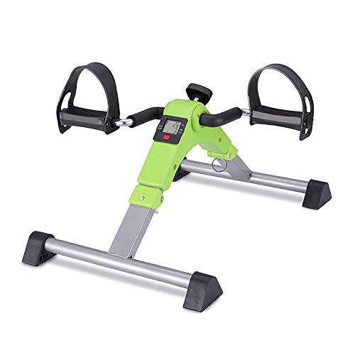 JXW-bike Ejercitador Plegable del Pedal De La Bicicleta Estática con La Exhibición Electrónica Y La Resistencia Ajustable,Green