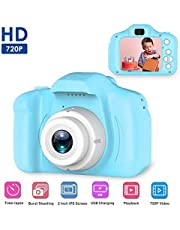 EVAN Kids Digital Camera Mini 2.0 Inch Color IPS Screen 8MP Kid Video Camera, HD Video Recorder 1080P for Kids (3-10 Years, Assorted Color)