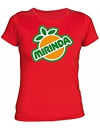 Desconocido Camiseta Mirinda Chica EGB ochenteras 80´s Retro