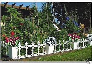 Zierzaun, weiß, Beeteinfassung Wunderschön Palisade Beetabtrennung Zaun