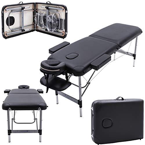 Massage Imperial® - tragbare Profi-Massageliege Knightsbridge - 5 cm Schaum - Aluminium - 10 kg - Schwarz