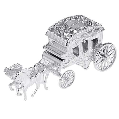 TOYANDONA Geschenkbox Kunststoff Kutsche Form Süßigkeiten Gastgeschenk Box Baby Shower Hochzeit Geburtstag Party Gastgeschenk (Silber)