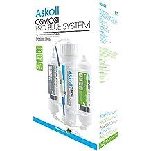 Askoll - Sistema de ósmosis inversa, agua osmótica, para acuario de 190 litros