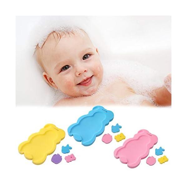 Baby Bather Infant Bath Pad, Newborn Bath Anti-Slip Cushion Seat Sponge Baby Bath Mat Non-Slip Sponge Mat Anti-Skid Bathtub Infant Bath Pad Newborn Seat for Baby Care Baby Bath seat by Purebesi 1